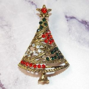 Vintage Style Christmas Tree Brooch 50s Style